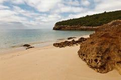 Beach in the National Park of Arrábida. Royalty Free Stock Photography