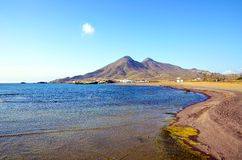 Beach in the natural park of Cabo de Gata Stock Photos