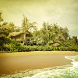 Beach-35. Nature background in vintage style Royalty Free Stock Photo