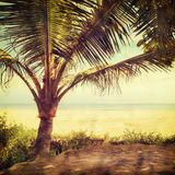 Beach-36. Nature background in vintage style Stock Photo