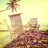 Beach-39. Nature background in vintage style Stock Photography