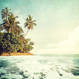 Beach-41. Nature background in vintage style Stock Photography