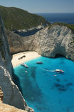 beach Navagio in Zakynthos, Greece Stock Images