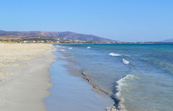 Beach at Naxos island Cyclades Greece stock photos