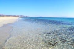 Beach at Naxos island Cyclades Greece. Landscape of beach at Naxos island Cyclades Greece Royalty Free Stock Photos