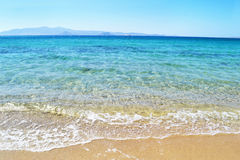 Beach at Naxos island Cyclades Greece royalty free stock photo