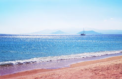 Beach at Naxos island Greece royalty free stock image