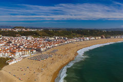 Beach in Nazare - Portugal Royalty Free Stock Photos