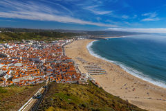 Beach in Nazare - Portugal Royalty Free Stock Photo
