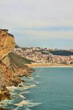Beach of Nazare in Portugal Stock Photography