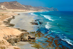 Beach near Al Mughsayl, Oman Stock Image