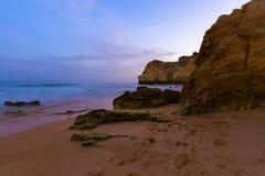 Beach near Albufeira - Algarve Portugal Stock Image