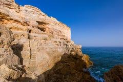 Beach near Albufeira - Algarve Portugal Stock Photos