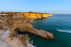 Beach near Albufeira - Algarve Portugal. Beach near Albufeira - Algarve region in Portugal Royalty Free Stock Photo