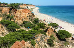 A beach near Albufeira, Portugal Stock Images
