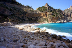 Beach near Altea bay Stock Images