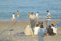 The beach near Antibes, France Stock Image