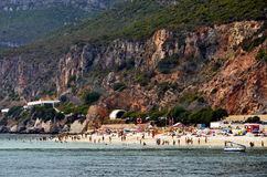 Beach near the Arrabida ridge in Portugal Royalty Free Stock Image