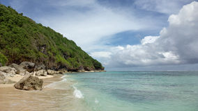 Beach near Bali Cliff,  South of Bali island, Indonesia Stock Photos