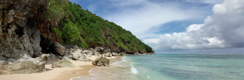 Beach near Bali Cliff,  South of Bali island, Indonesia Stock Photography
