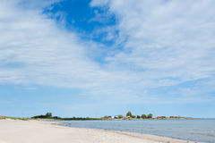 Beach near Blaesinge harbor, Sweden Royalty Free Stock Photo