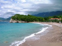 Beach near Budva, Montenegro Stock Images
