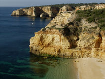 Beach near Carvoeiro, Algarve, Portugal. Stock Image