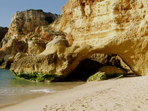 Beach near Carvoeiro, Algarve, Portugal. Royalty Free Stock Photos