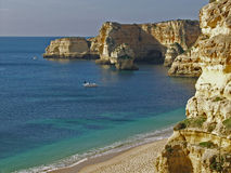 Beach near Carvoeiro, Algarve, Portugal. Royalty Free Stock Photography