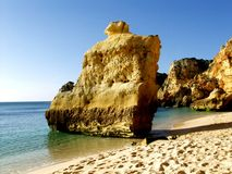 Beach near Carvoeiro, Algarve, Portugal. Stock Photography