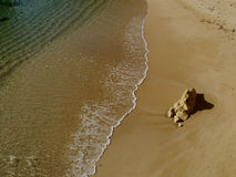 Beach near Carvoeiro, Algarve, Portugal. Stock Images