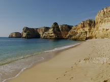 Beach near Carvoeiro, Algarve, Portugal. Beach in the Algarve, Portugal Royalty Free Stock Images