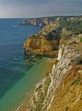 Beach near Carvoeiro, Algarve, Portugal. Royalty Free Stock Images