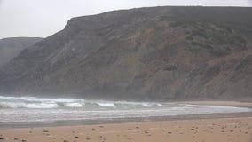 On Beach Near Cliffs Royalty Free Stock Photography