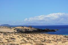 Beach near Corralejo sand dunes , Fuerteventura, Canary Islands, Spain Stock Photo