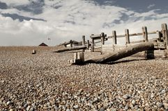 On the Beach Near Hastings Royalty Free Stock Photo