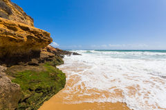 Beach near Lagos, Algarve, Portugal Royalty Free Stock Images