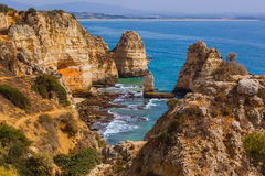 Beach near Lagos - Algarve Portugal Royalty Free Stock Photo