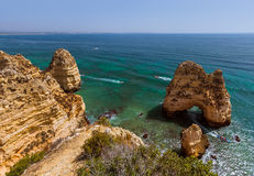 Beach near Lagos - Algarve Portugal Stock Photography