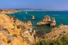 Beach near Lagos - Algarve Portugal. Beach near Lagos - Algarve region in Portugal Stock Photos