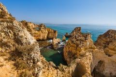 Beach near Lagos - Algarve Portugal. Beach near Lagos - Algarve region in Portugal Stock Images