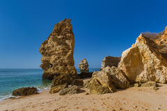 Beach near Lagos - Algarve Portugal. Beach near Lagos - Algarve region in Portugal Royalty Free Stock Images