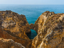 Beach near Lagos - Algarve Portugal. Beach near Lagos - Algarve region in Portugal Royalty Free Stock Photos