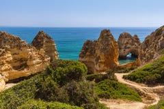Beach near Lagos - Algarve Portugal. Beach near Lagos - Algarve region in Portugal Royalty Free Stock Photography
