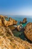 Beach near Lagos - Algarve Portugal. Beach near Lagos - Algarve region in Portugal Royalty Free Stock Photo