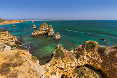 Beach near Lagos - Algarve Portugal. Beach near Lagos - Algarve region in Portugal Stock Image