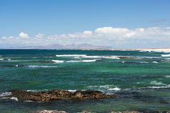Beach near the lighthouse El Toston, northern part of Fuerteventura Stock Images