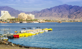 Beach near Mercury Hotel, Eilat, Israel Royalty Free Stock Photo