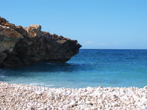Beach near Monte Cofano. Nature Reserve Mount cofano trapani Sicily stock photos