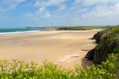 Beach near Padstow Harlyn Bay North Cornwall England UK Royalty Free Stock Photos